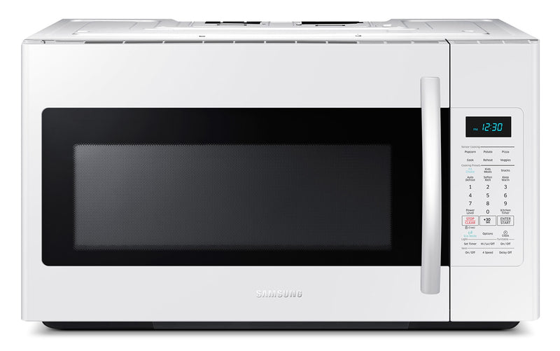Samsung White Over-the-Range Microwave (1.8 Cu. Ft.) - ME18H704SFW/AC
