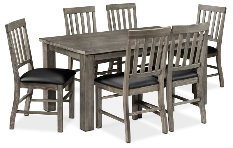Porter 7-Piece Dining Room Set - Slate and Black