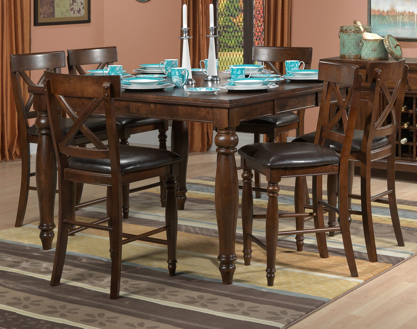 Kingstown pub height dining table chocolate write a review sku 23542903 kingstown pub height dining table chocolate