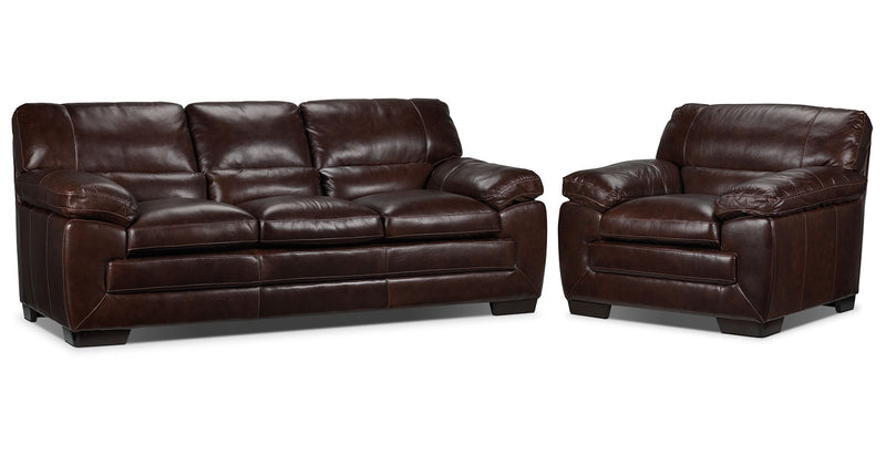 Amarillo Sofa and Chair Set - Brown