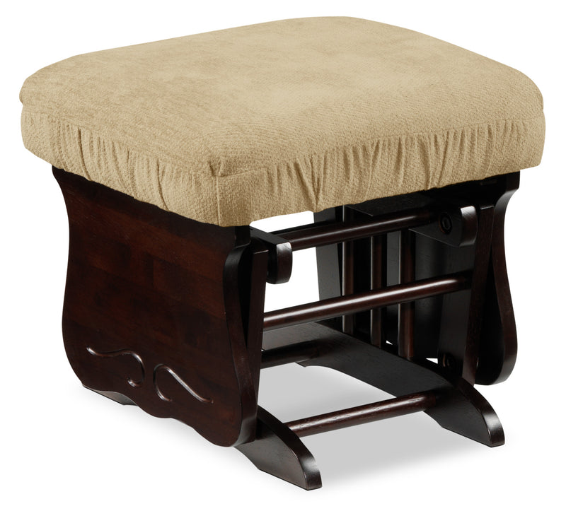 Alexa Glider Ottoman - Beige and Dark Brown