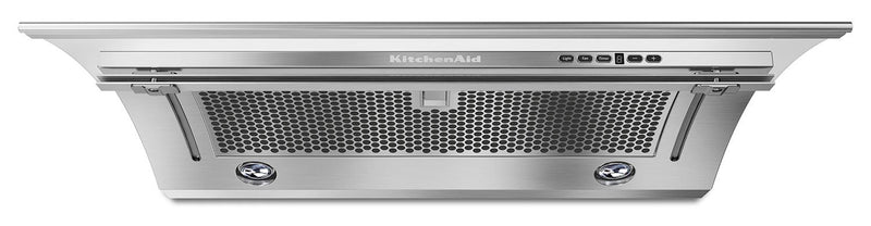 "KitchenAid Stainless Steel 36"" 400 CFM Slide-Out Range Hood - KXU2836YSS"