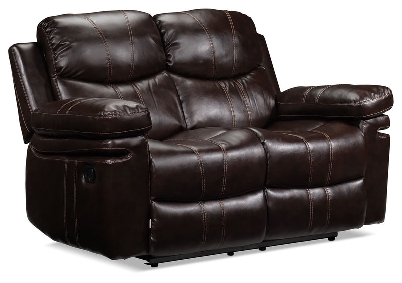 Barcelona II Reclining Loveseat - Dark Brown