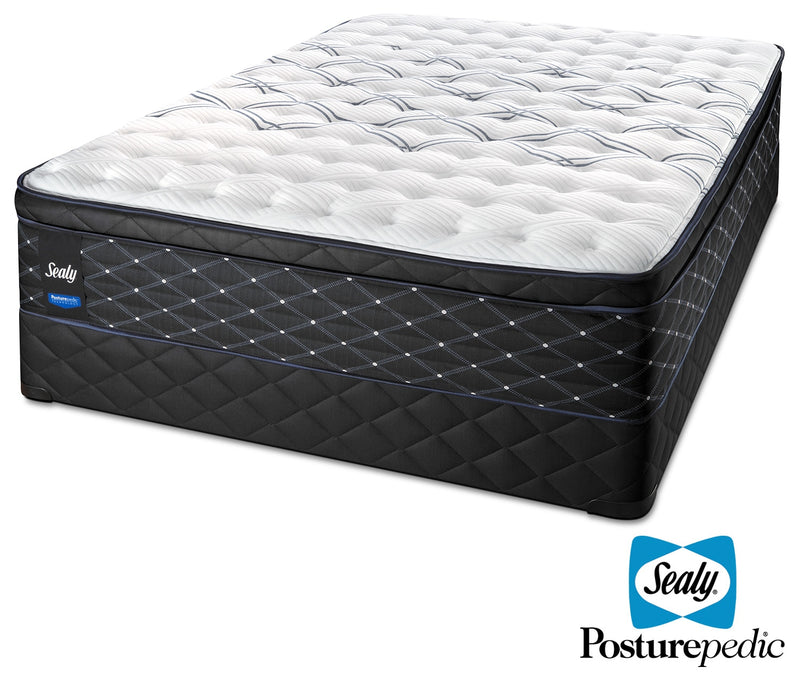 Sealy Entity Plush Queen Mattress and Boxspring Set