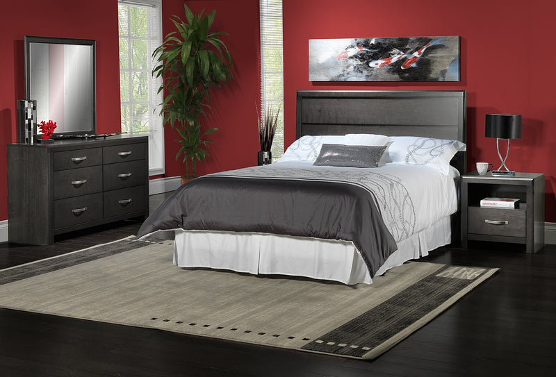 Dessy 4-Piece Queen Bedroom Set - Charcoal