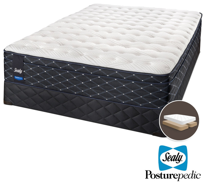 Sealy Narrative Cushion Firm King Mattress and Split Boxspring Set