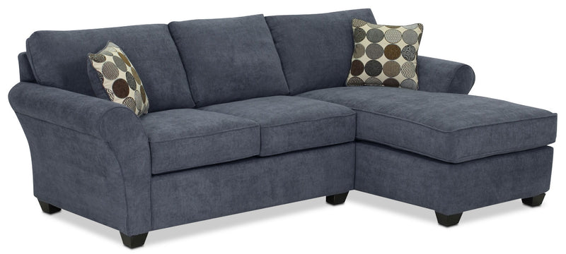 Althea 2-Piece Sectional with Right-Facing Chaise - Navy