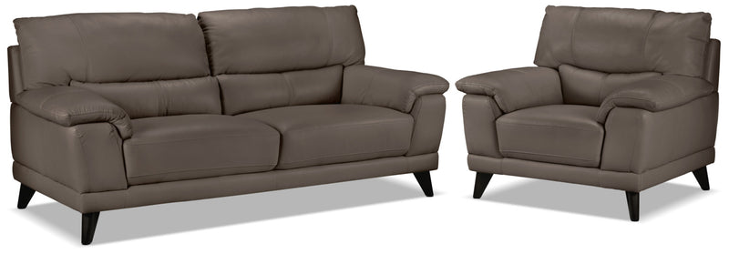 Braylon Sofa and Chair Set - African Grey