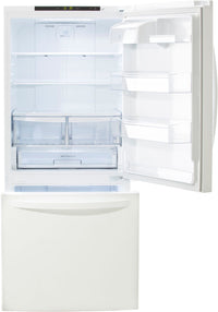 LG White Bottom-Freezer Refrigerator (22.1 Cu. Ft.) - LDNS22220W