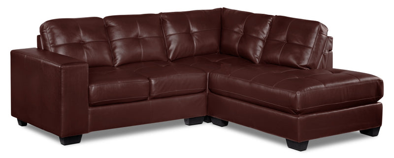 Meldrid 3-Piece Sectional with Right-Facing Chaise - Dark Brown
