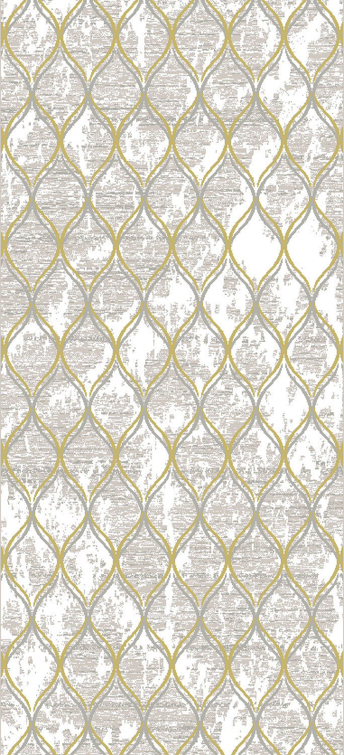 Trellis 5' x 8' Area Rug - Gold and Grey