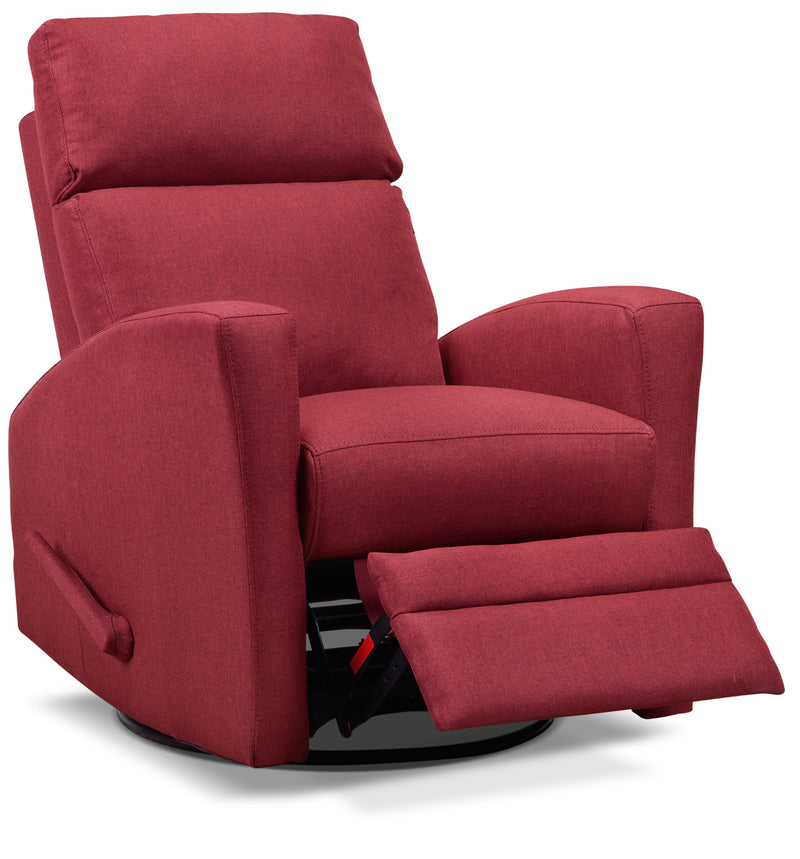 Nina Swivel Glider Recliner - Red