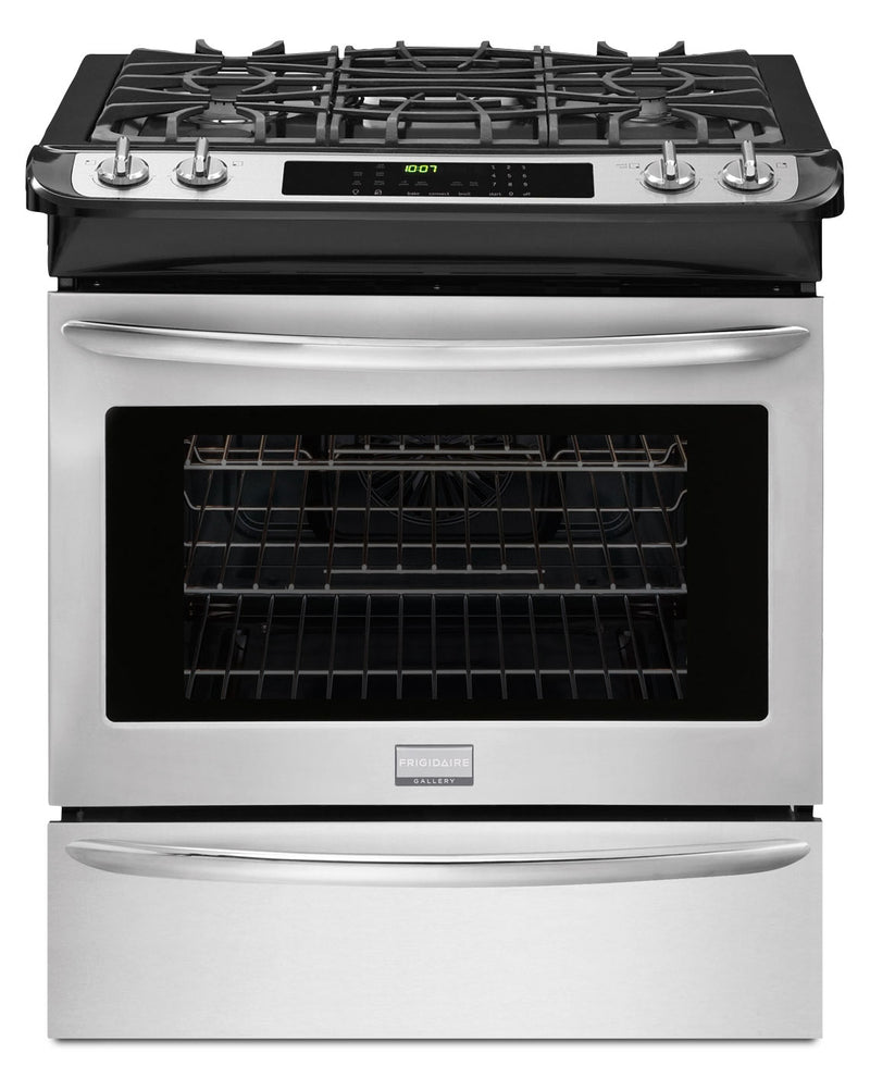 Frigidaire Gallery Stainless Steel Slide-In Gas Convection Range (4.5 Cu. Ft.) - FGGS3065PF