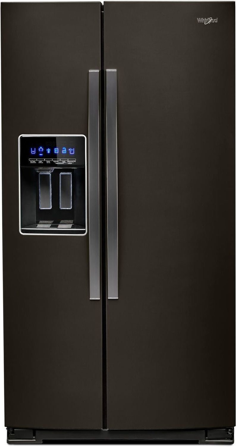 Image of Whirlpool Black Stainless Steel Counter-Depth Side-by-Side Refrigerator (21 Cu. Ft.) - WRS571CIHV
