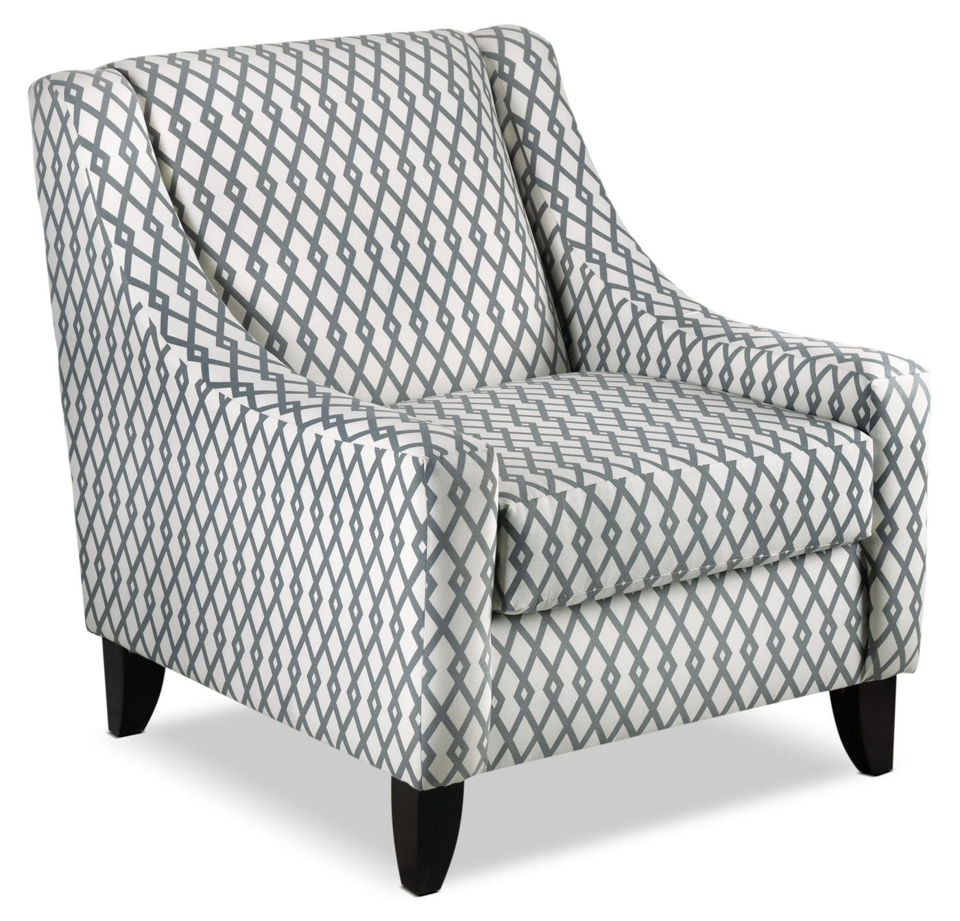 White Accent Chairs Used.Halley Accent Chair Lattice Slate
