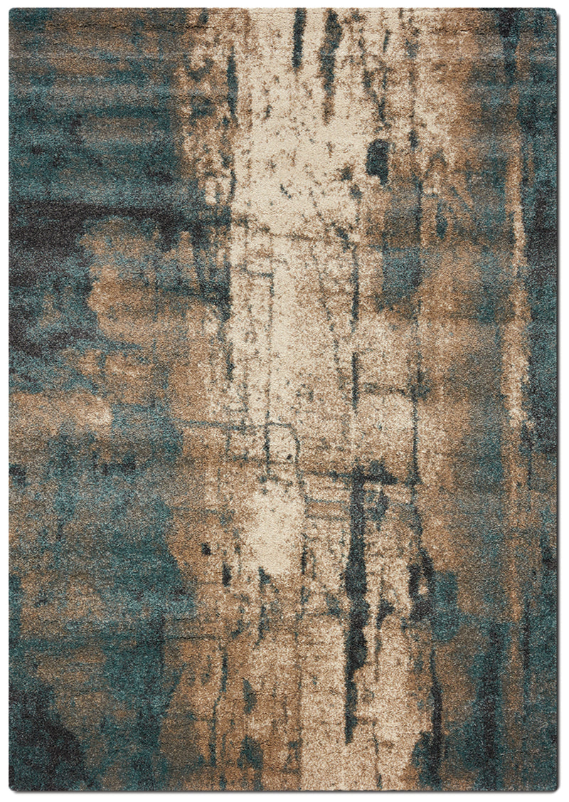 Ashbury 5' x 8' Area Rug - Cream and Teal