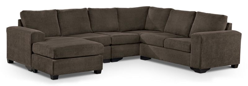Danielle 3-Piece Sectional with Left-Facing Corner Wedge - Java