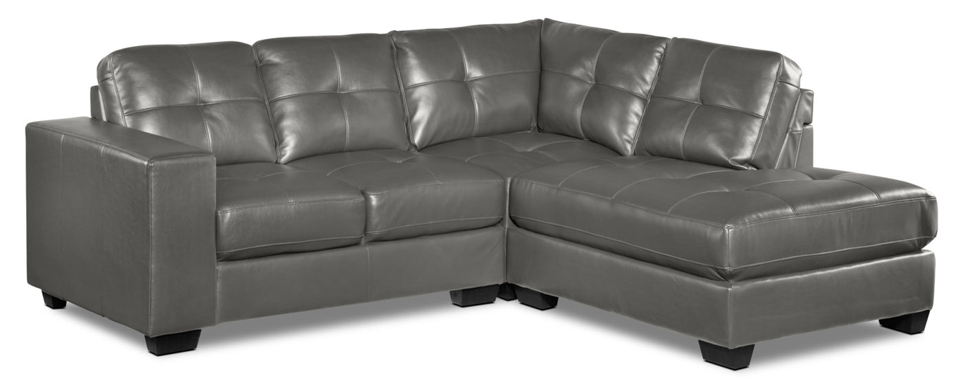 Meldrid 3-Piece Sectional with Right-Facing Chaise - Dark Grey