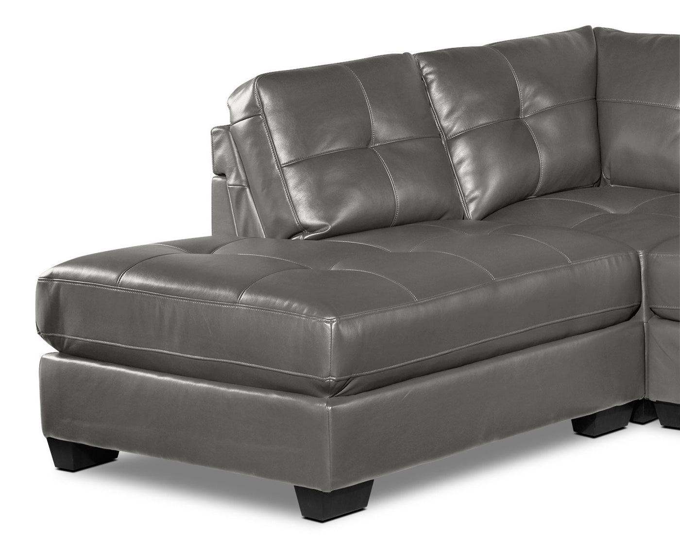 Meldrid 3 Piece Sectional With Left Facing Chaise Dark