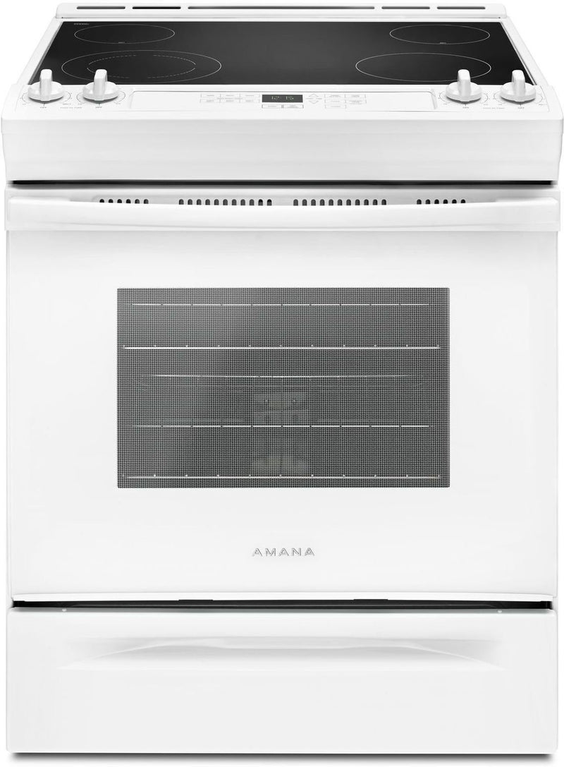Amana White Slide-In Electric Range (4.8 Cu. Ft.) - YAES6603SFW