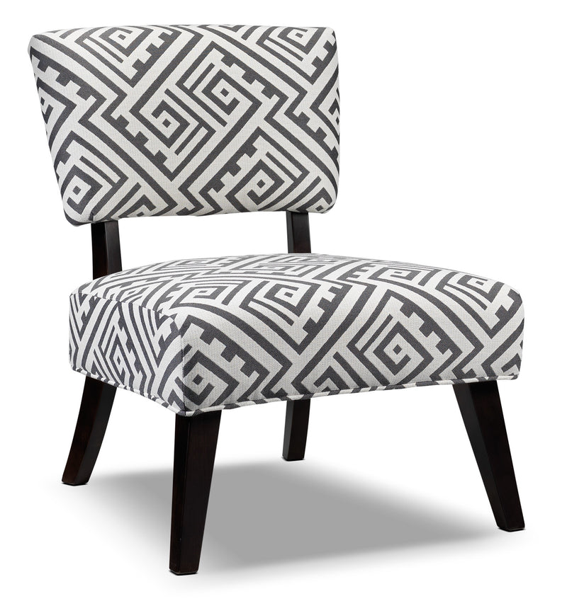 Parker Accent Chair - White and Grey
