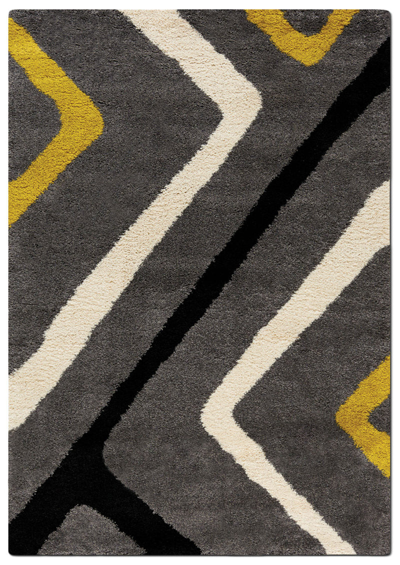 Maroq 5' x 8' Area Rug - Grey