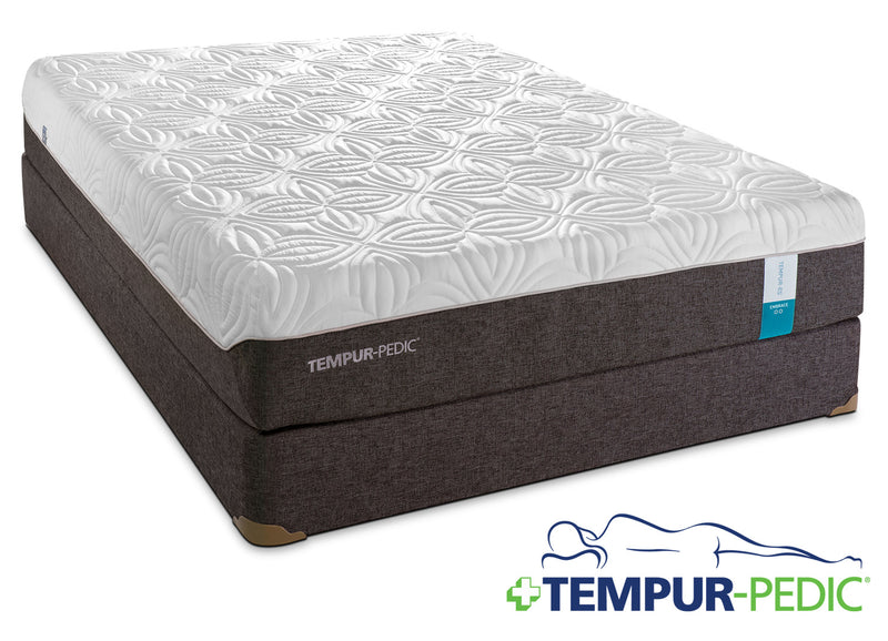 Tempur-Pedic Embrace 2.0 Plush Twin XL Mattress and Boxspring Set