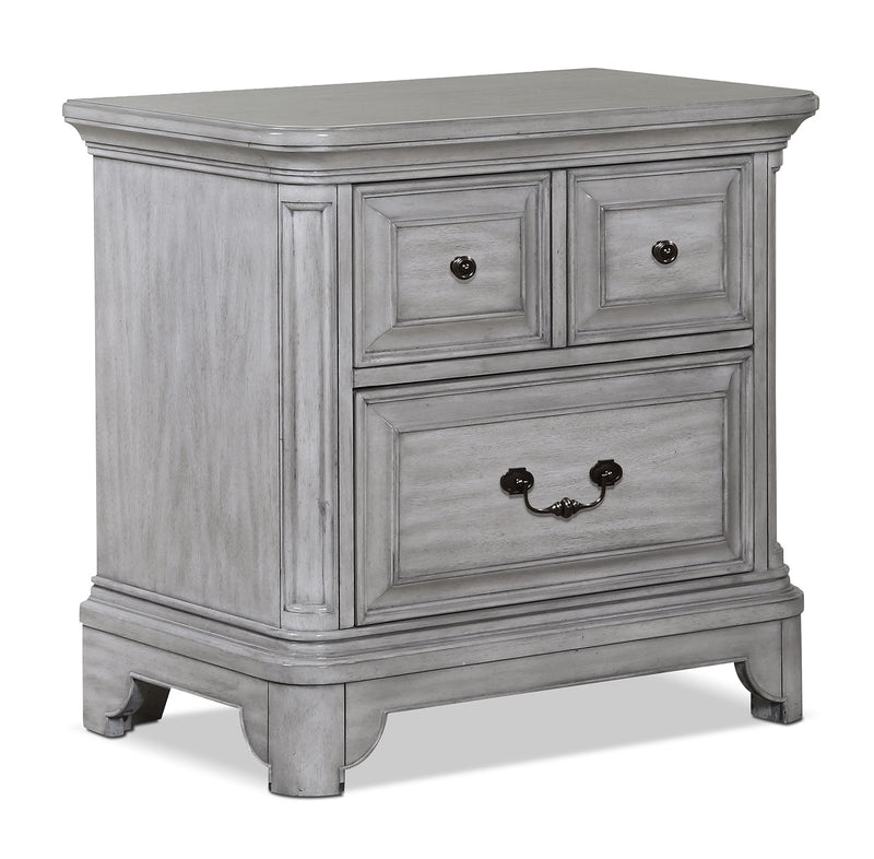 Tressa Night Table - Weathered White