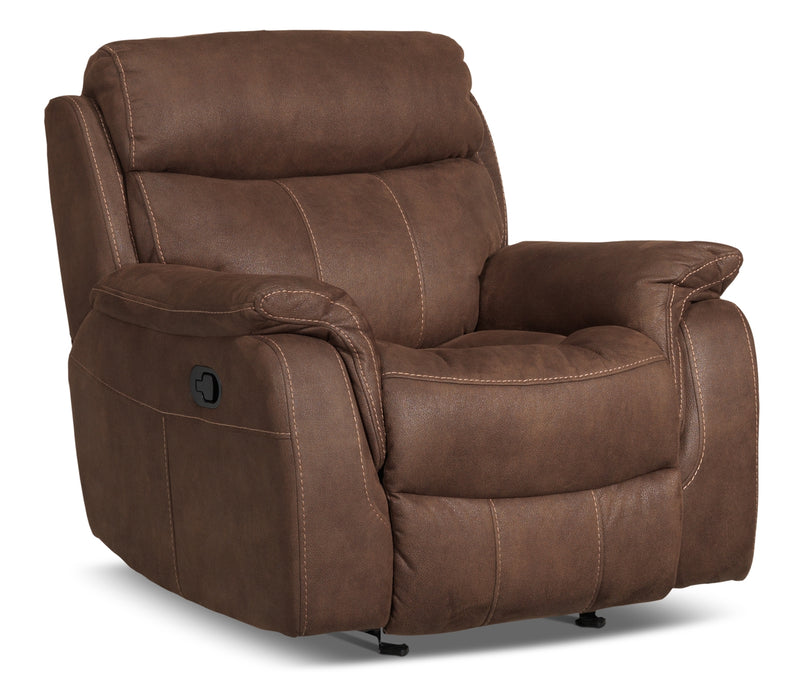 Morrow Glider Recliner - Saddle Brown