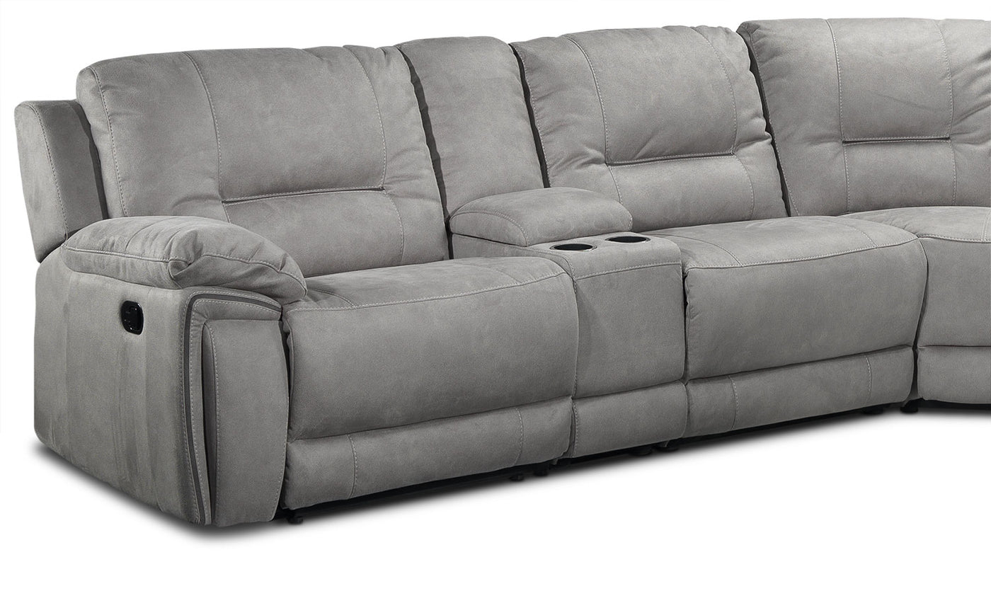 Pasadena 6 Piece Reclining Sectional With Right Facing Chaise