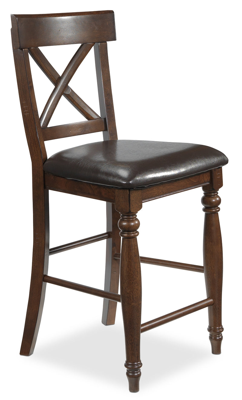 Kingstown Pub-Height Stool - Chocolate