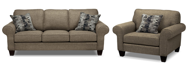 Drake Sofa and Chair Set - Mercury