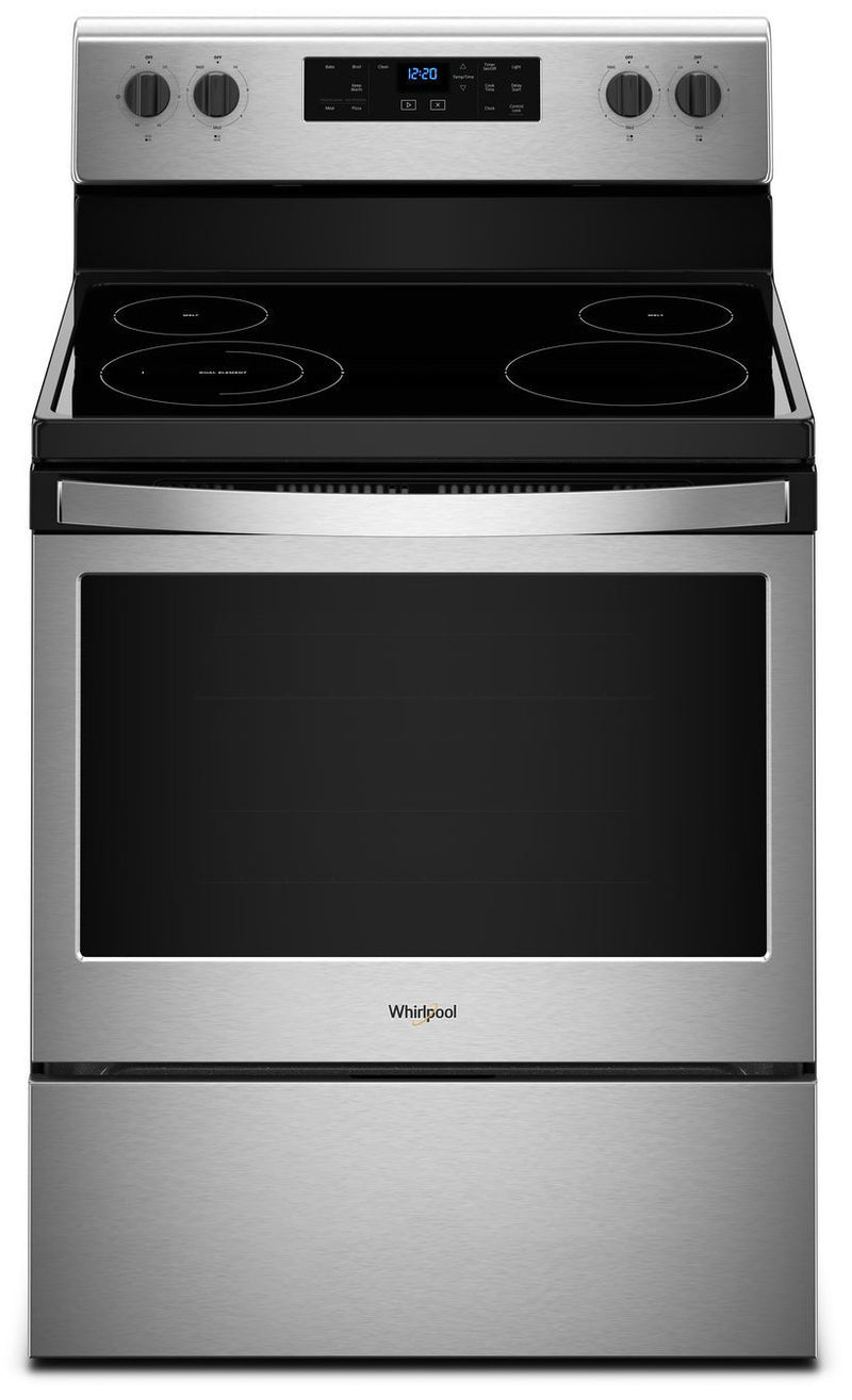 Whirlpool Black-on-Stainless Steel Freestanding Electric Range (5.3 Cu. Ft.) - YWFE510S0HS