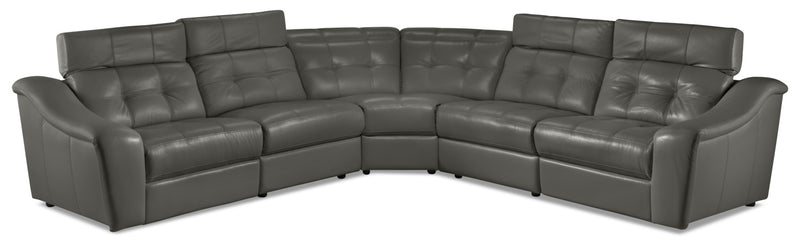 Verona 5-Piece Power Reclining Sectional - Charcoal
