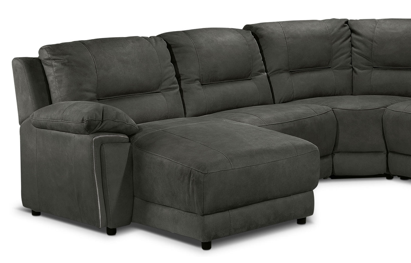 Pasadena 6 Piece Reclining Sectional With Left Facing Chaise Dark
