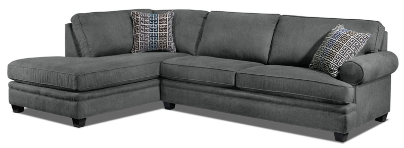 Tammy 2-Piece Sectional with Left-Facing Chaise - Charcoal