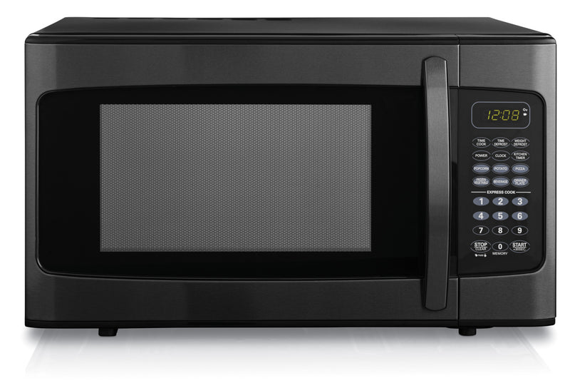 Danby Black Stainless Steel Microwave (1.1 Cu. Ft.) - DMW11B1BBSDB