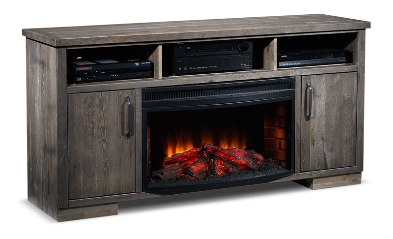Holt Fireplace TV Stand - Slate