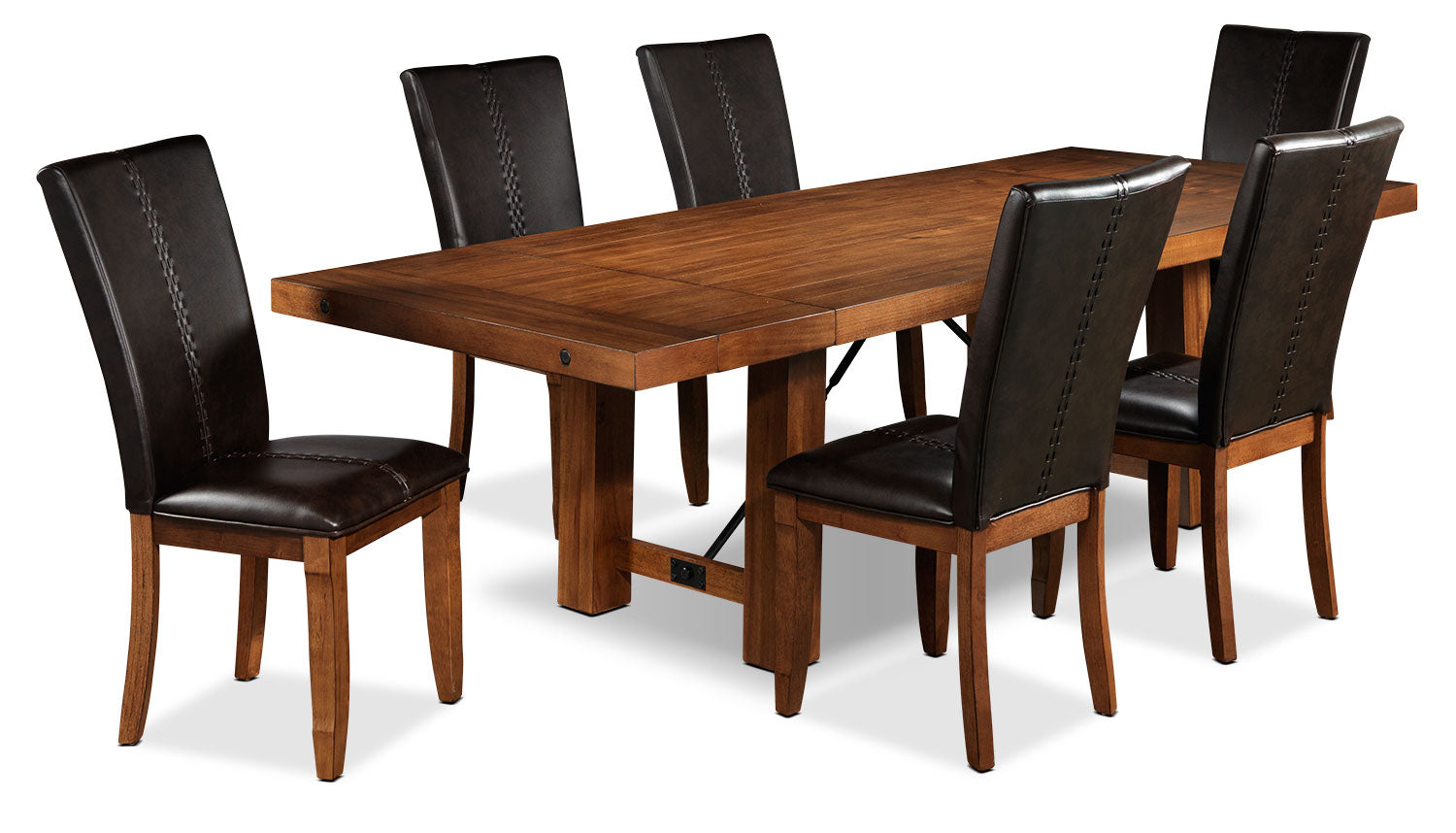 Helix 7-Piece Dining Room Set - Oak | Leon\'s