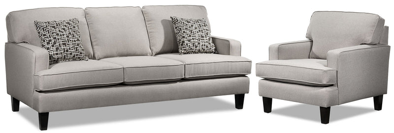 Atkin Sofa and Chair Set - Taupe