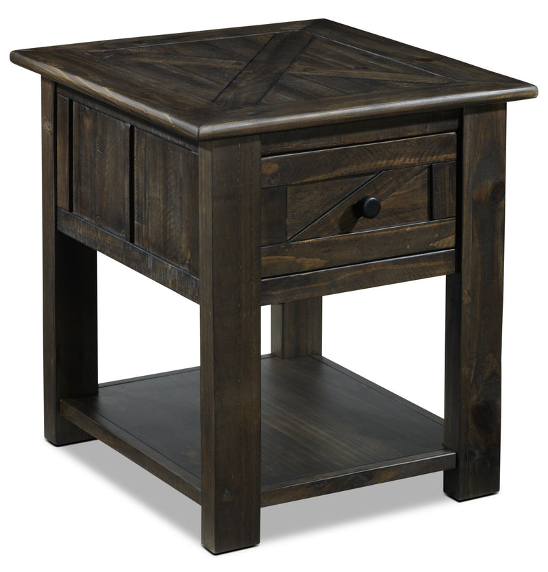 Gable End Table - Weathered Charcoal