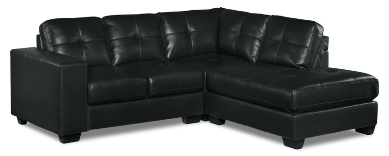 Meldrid 3-Piece Sectional with Right-Facing Chaise - Black