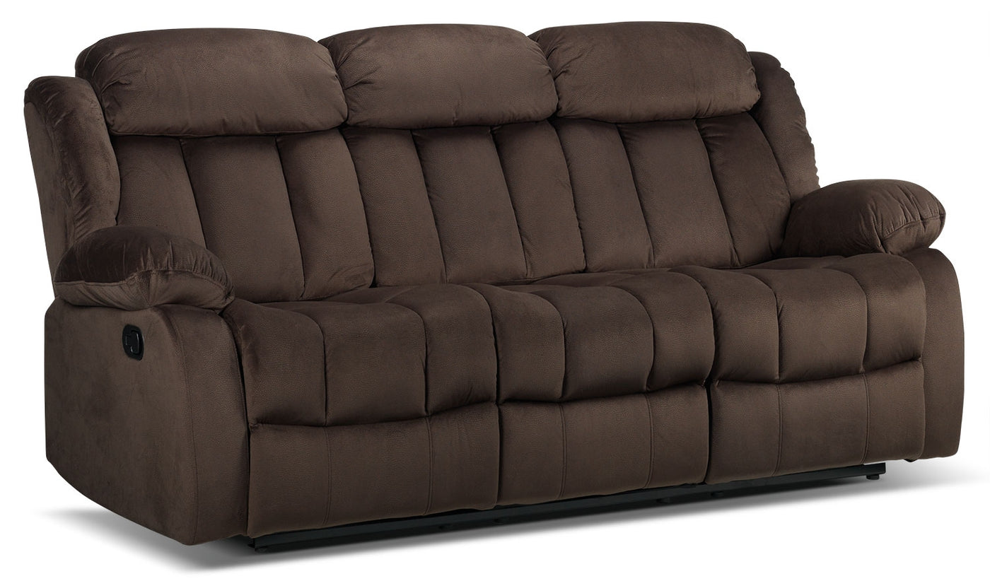 Alabama Reclining Sofa Deep Brown Leon S