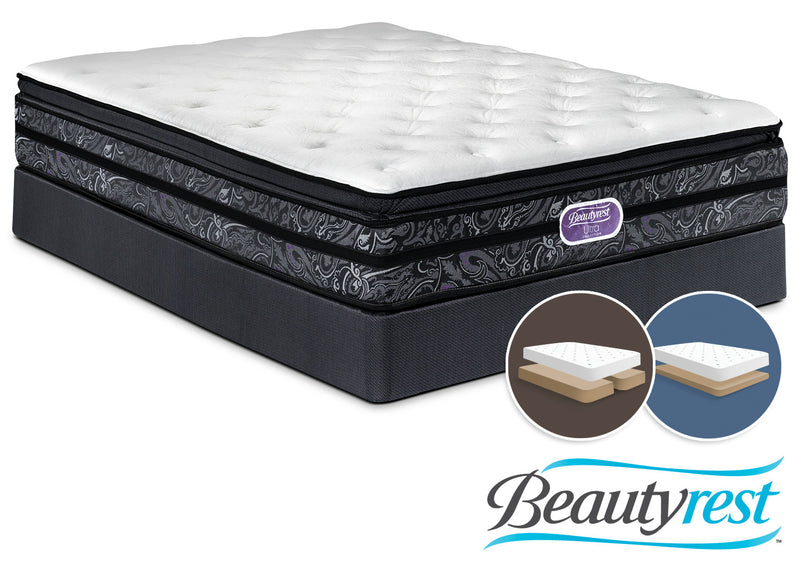 Simmons Beautyrest Ultra Trenton Plush King Mattress and Low-Profile Split Boxspring