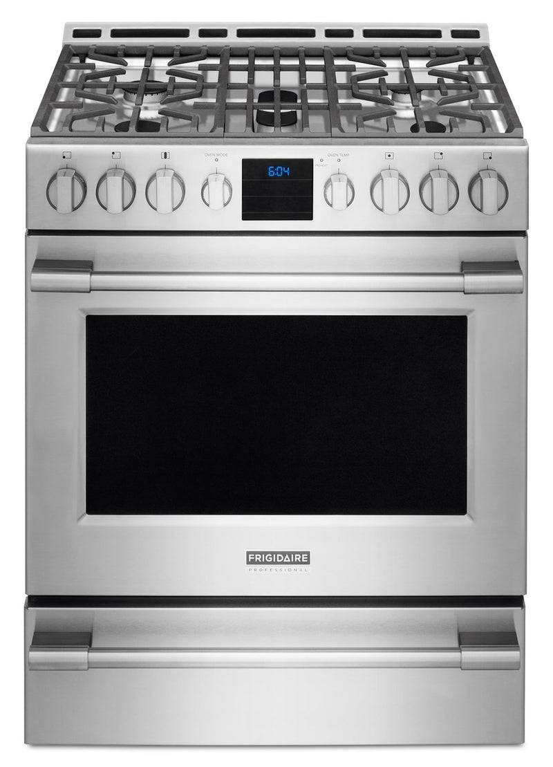 Frigidaire Professional Stainless Steel Freestanding Gas Convection Range (5.1 Cu. Ft.) - FPGH3077RF