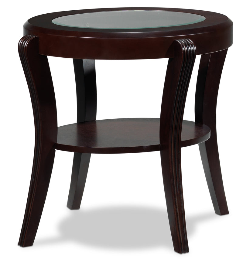 Theo End Table - Mahogany