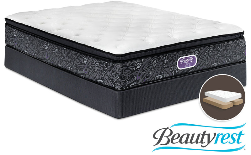 Simmons Beautyrest Ultra Silvia Firm King Mattress and Split Boxspring Set
