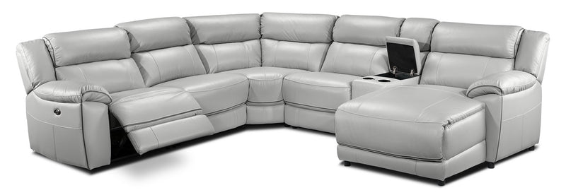 Holton 6-Piece Sectional with Right-Facing Chaise - Grey