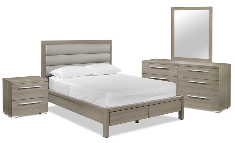 Bay Hill 5-Piece Queen Storage Bedroom Set - Grey