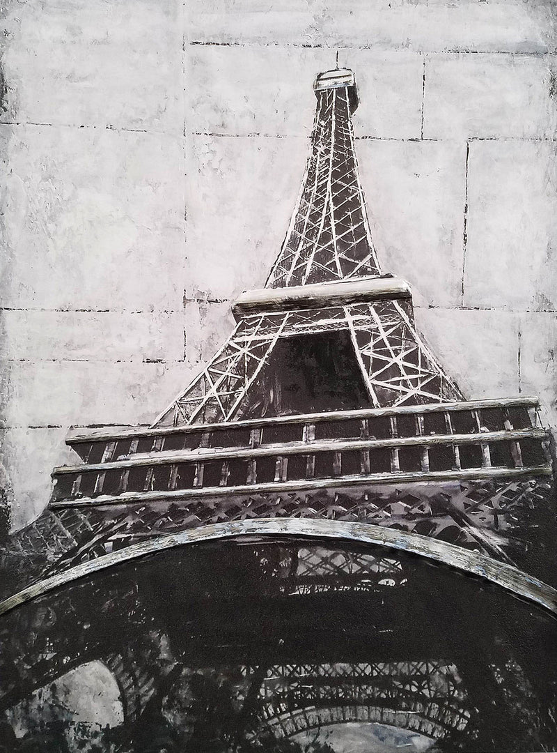 "Eiffel Tower Metal Canvas Print (36"" X 48"")"